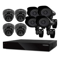 Defender 16 Channel Smart Security System with 1TB Hard Drive, 4 600TVL Dome Cameras, and 4 600TVL PRO Outdoor Cameras with 110' Night Vision