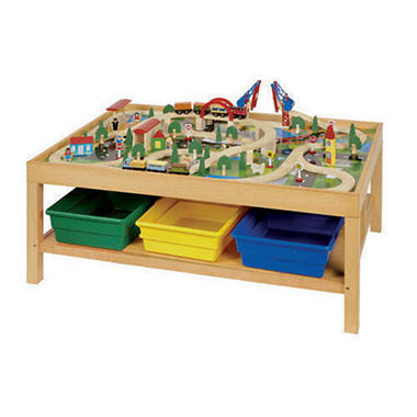 Wooden train table youtube