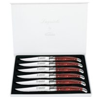 Set of 6 Laguiole Stainless-Steel Steak Knives