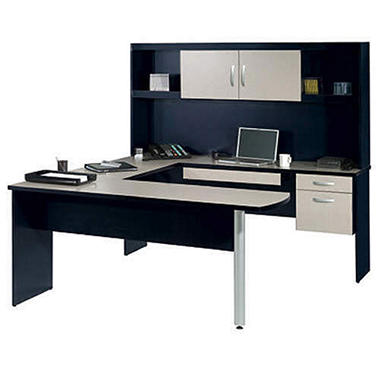 Bestar U-Shape and Hutch Workstation