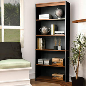 Bestar Innova HomePro 92000 Bookcase, Tuscany Brown/Black