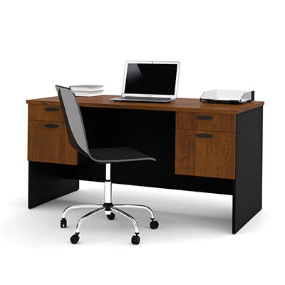 Bestar - HomePro 69000 Executive Desk - Tuscany Brown and Black