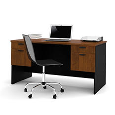 Bestar HomePro 69000 Executive Desk, Tuscany Brown/Black