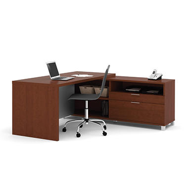 Bestar - OfficePro 120000 L-Shaped kit - Cognac Cherry