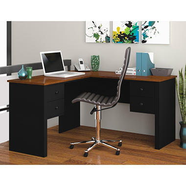 Bestar - HomePro 45000 L-Shaped desk - Black