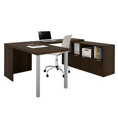 Bestar i3 OfficePro 150000 2-Drawer  U-Shaped Desk, Select Color