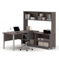 Bestar Pro-Linea L-Shaped Desk w/ Hutch