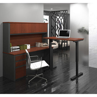 664 00 Altra Benjamin Desk Set Desk Hutch Lateral