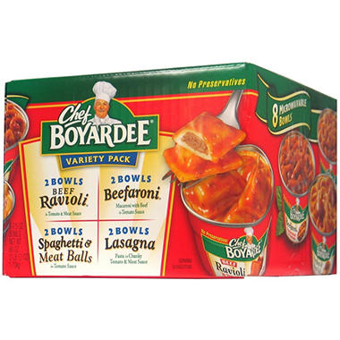 Chef Boyardee Microwaveable Pasta Variety Pack (7.5 oz. ea., 8 ct)