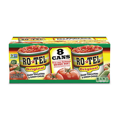 RO*TEL� Diced Tomatoes & Green Chilies - 10 oz. - 8 ct.