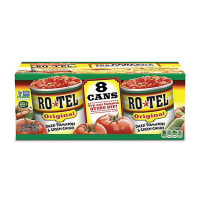 RO*TEL® Diced Tomatoes & Green Chilies - 10 oz. - 8 ct.