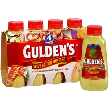 Gulden's� Spicy Brown Mustard - 4/12 oz.