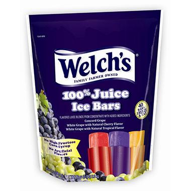 Welch's 100% Juice Freezer Pops ( 2 oz. ea., 40 ct.)