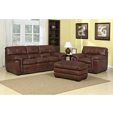 Wilson 3-Piece Leather Sofa Set