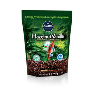 Zavida Coffee® Hazelnut Vanilla Whole Bean - 2lb