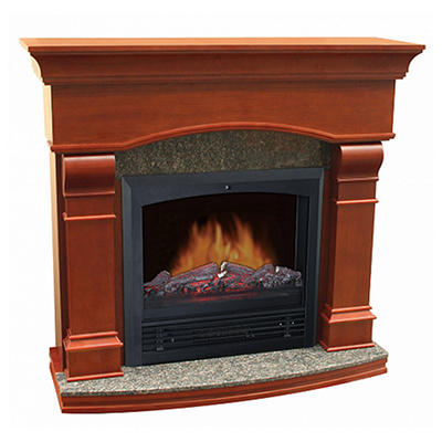 "Electric Fireplace with 47"" Mantle"