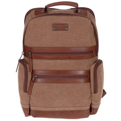 Renwick Business Backpack with Genuine Leather Trim (Assorted Colors)