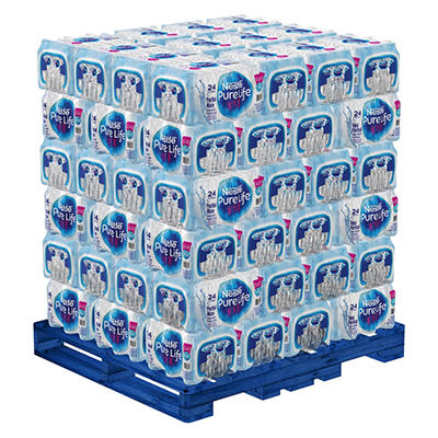 Nestle Pure Life Purified Bottled Water - 1/2 liter (16.9 oz) - 72 Case Pallet