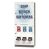 Vend-Rite Coin-Operated Soap Vender, 3-Column, Metal