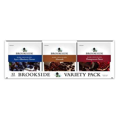 BROOKSIDE Dark Chocolate Variety Pack (7 oz. bag, 12 ct.)