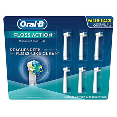 Oral-B Replacement Brush Heads, Floss Action (6 ct.)