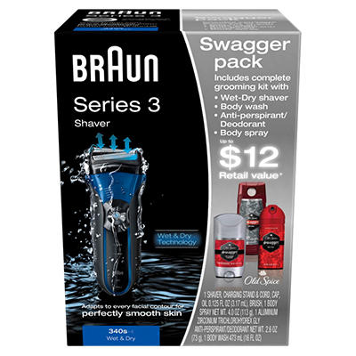 Braun Series 3 Shaver Swagger Pack - Model 340s-4
