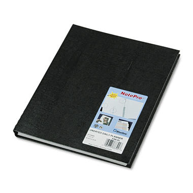 Blueline - NotePro Undated Daily Planner, 11 x 8-1/2 - Black