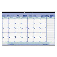 Brownline - Monthly Desk Pad Calendar, 17-3/4 x 10-7/8 -  2016