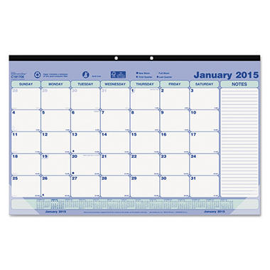 Brownline - Monthly Desk Pad Calendar, 17-3/4 x 10-7/8 -  2016
