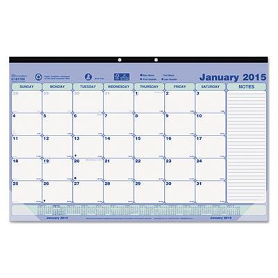 Brownline Monthly Desk Pad Calendar, 17-3/4 x 10-7/8 -  2015