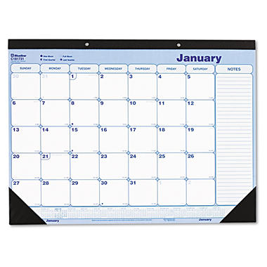 Blueline - Monthly Desk Pad, Chipboard, 2015, 12-Month -  21 3/4 x 17