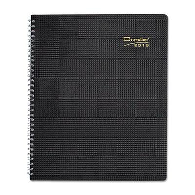 Brownline DuraFlex 14-Month Planner, Black, 7 1/8 x 8 7/8 -  2014-2016