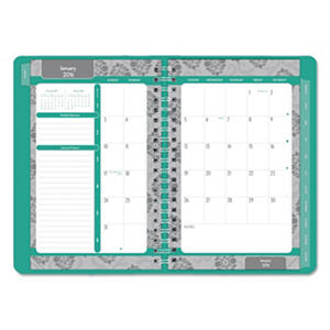 Blueline - Soft Cover Design Weekly/Monthly Planner 8 x 5, Aqua -  2016