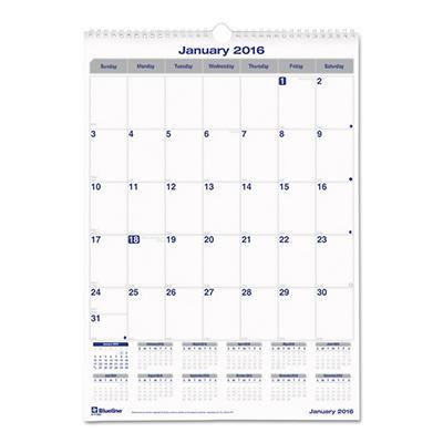 Blueline Net Zero Carbon Wall Calendar, 12 x 17 -  2015