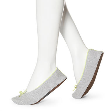 Women's June & Daisy Cotton Slippers - Grey
