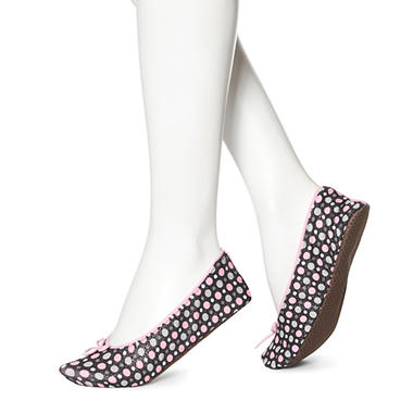 Women's June & Daisy 1 Pr Cotton Slippers - Dot