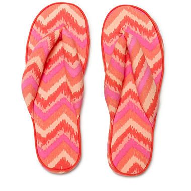 Women's June & Daisy Cotton Soft Sole Flip Slippers - Zig Zag