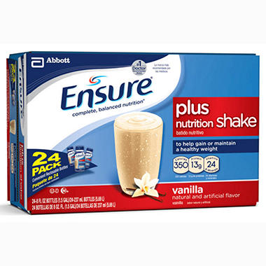 Ensure Plus Vanilla - 8 oz. bottle - 24 ct.
