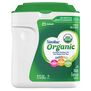 Similac Organic Infant Formula - 34 oz.