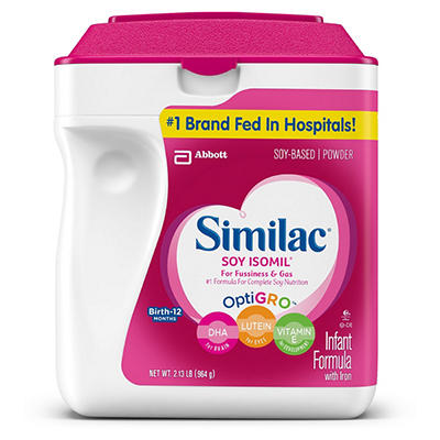 Similac Soy Isomil Infant Formula (34 oz.)