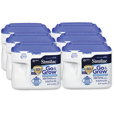 Similac Go & Grow Milk Formula, Based Powder - 6 pk.