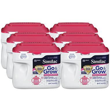 Similac Go & Grow Soy Based Toddler Drink with Iron (1.37 lbs., 6 pk.)