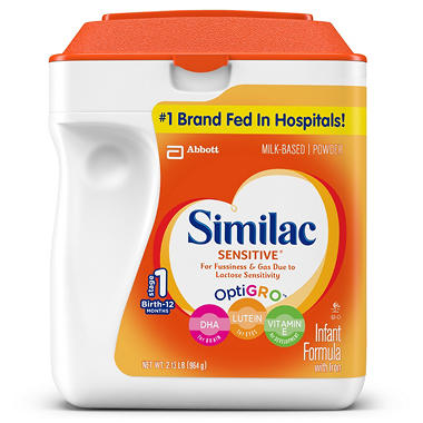 Similac Sensitive Infant Formula - 34 oz.