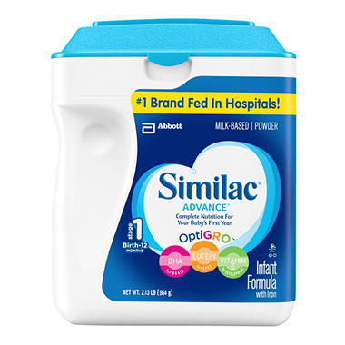 Similac Advance Infant Formula with Iron Powder, Stage 1, 34 .oz container