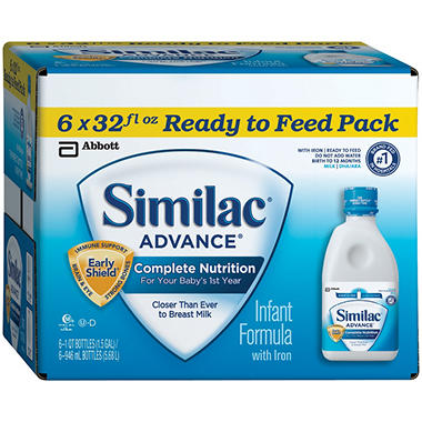 Similac - Advance Ready to Feed Infant Formula, 32 oz. - 6 pk.