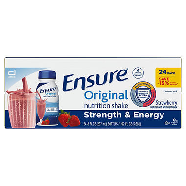 Ensure® Strawberries & Cream Shake - 8 oz. - 24 ct.