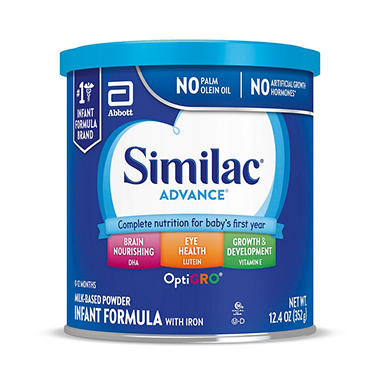 Similac Advance Infant Formula w/Iron (12.4 oz., 6 pk.)