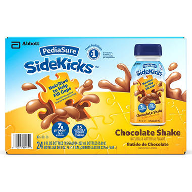 PediaSure SideKicks Chocolate Shake - 8 oz. bottles- 24 pk.