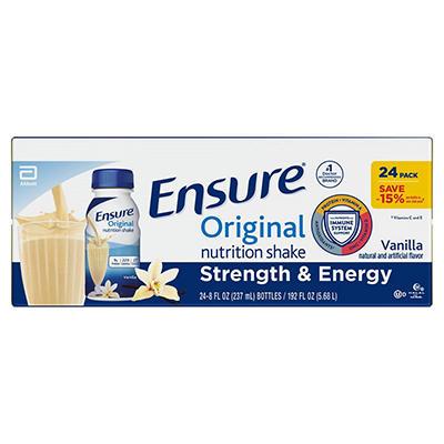 Ensure Original Nutrition Shake, Vanilla  (8 fl. oz., 24 ct.)