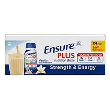 Ensure Plus Homemade Vanilla Shake (8 oz. bottles, 24 pk.)